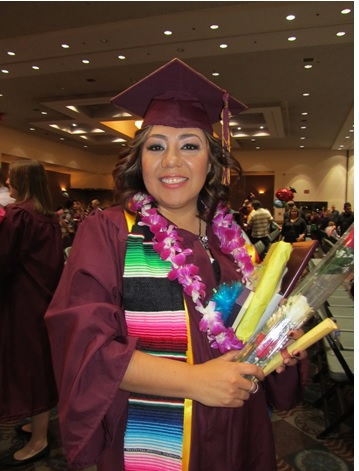Rosa Morales, the first VPMS scholarship recipient, received her Associate's Degree in Social Work from PCC, and her B.S.W (Bachelor of Social Work) from ASU in May 2015.